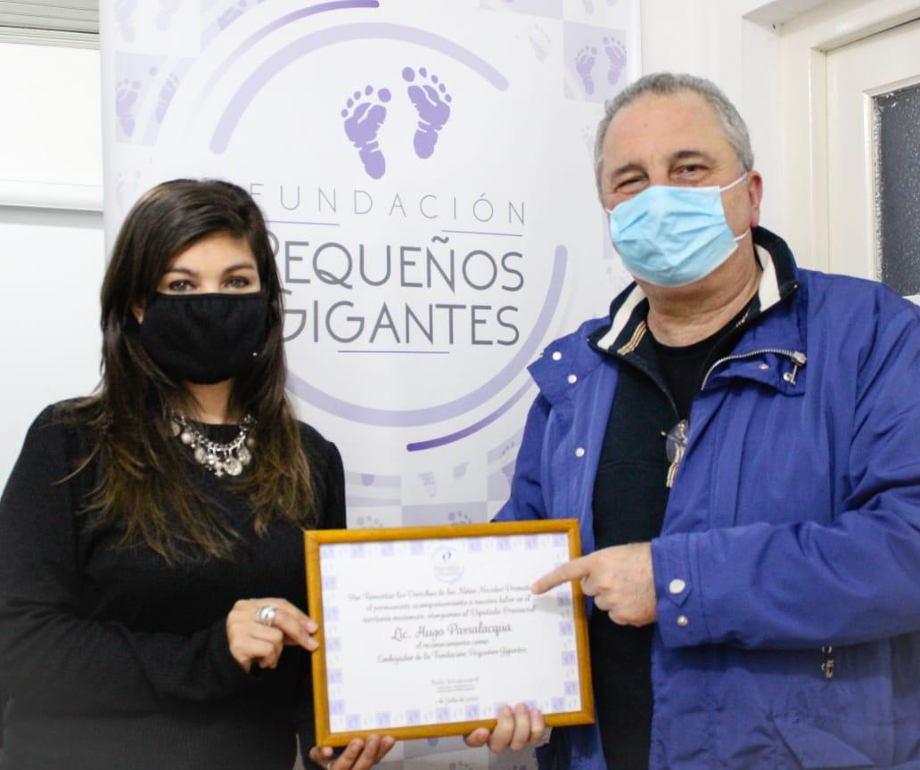 Hugo Passalacqua fue distinguido con el título de Embajador de la Fundación Pequeños Gigantes