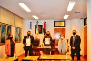 Marandú firmó un convenio con el Poder Judicial de la provincia