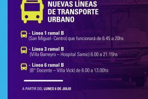 Nuevas líneas de transporte urbano de pasajeros en Oberá