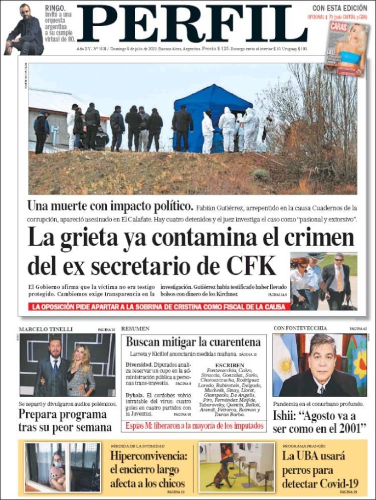 Las tapas del domingo: Impacto por el asesinato del ex secretario de CFK