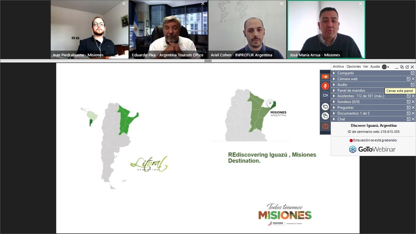 Operadores turísticos de Norteamérica se interiorizaron sobre Iguazú a través de un webinar