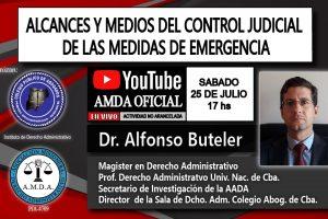 """Disertarán sobre """"alcances y medios del control judicial de las medidas de emergencia"""""""