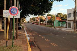 Ciclovías: instalan carteles en las avenidas Francisco de Haro y Rademacher de Posadas