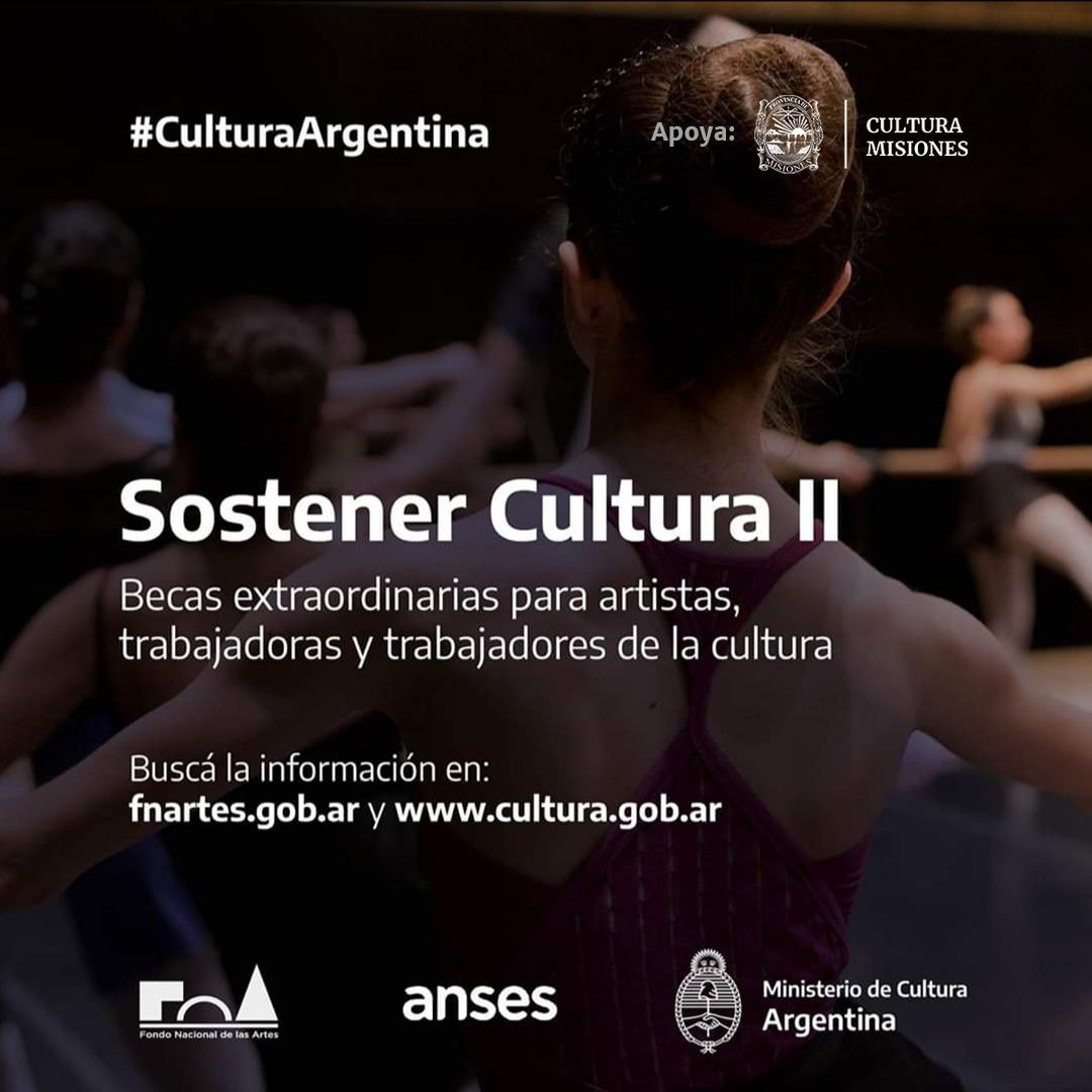 Brindarán asesoría para los que deseen gestionar la beca Sostener Cultura II otorgada por la Nación