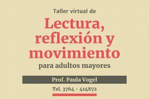 """""""Alma guazú"""" taller virtual de lectura, reflexión y movimiento para adultos mayores"""