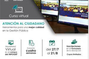 """INFOGEP invita a participar del """"Curso virtual de atención al ciudadano"""""""