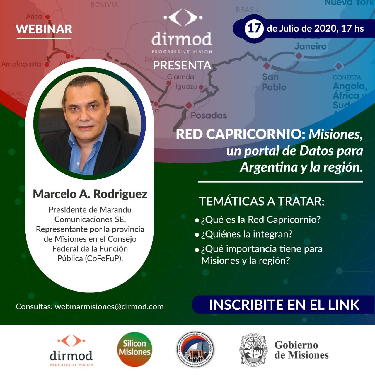Disertarán sobre la Red Capricornio y el potencial de Misiones como portal de datos