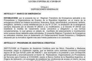 Quieren establecer un régimen transitorio de Emergencia aplicable a los Proveedores y Organizadores de Eventos