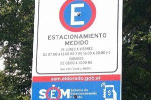 Eldorado: comienza a implementarse el estacionamiento medido