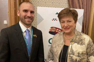Kristalina Giorgieva felicitó al país por el acuerdo con acreedores