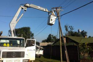 Energía de Misiones realiza tareas de mantenimieto en San Javier, Campo Grande y Cerro Corá