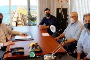 El Director Ejecutivo recibió al Gerente de obras Aña Cuá