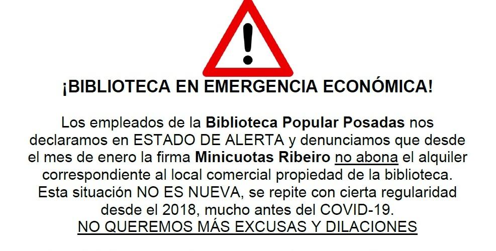 No paga alquiler: La cadena Ribeiro está perjudicando el funcionamiento de la Biblioteca Popular
