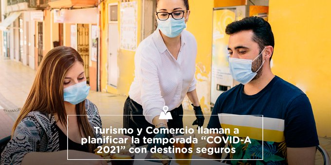"""Turismo y comercio llaman a planificar la temporada """"Covid-A 2021"""" con destinos seguros"""