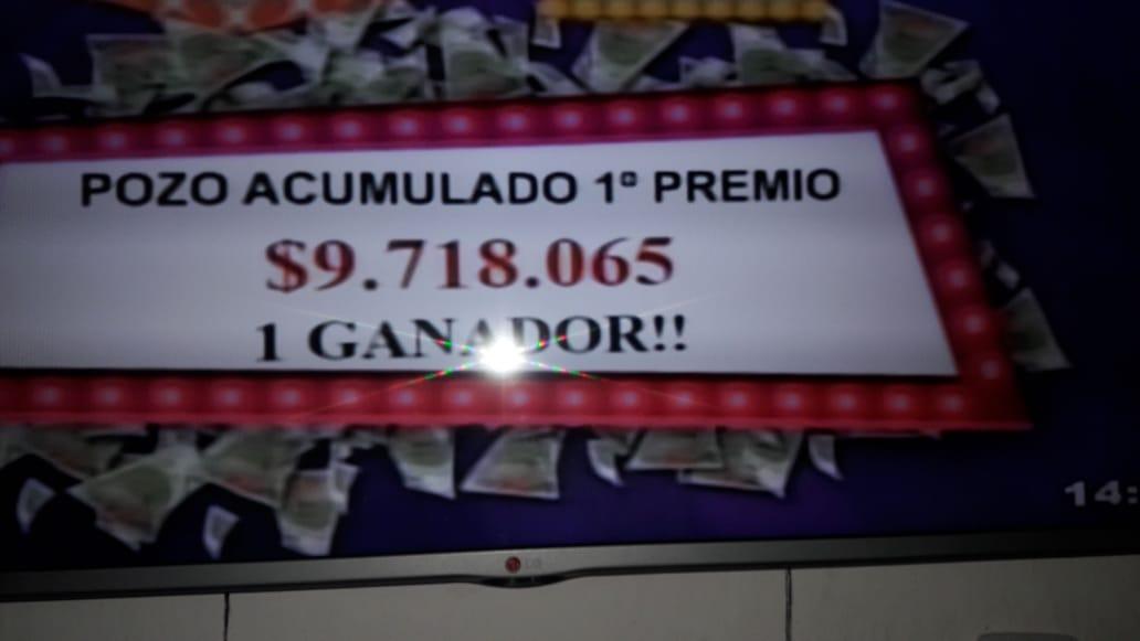 Un solo apostador ganó 9,7 millones en la Poceada
