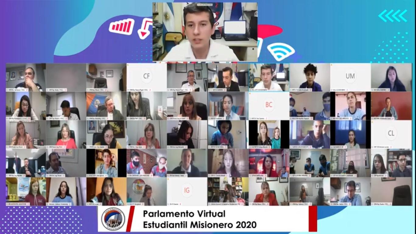 """Parlamento Virtual Estudiantil: """"La educación es la llave que abre todas las puertas"""""""