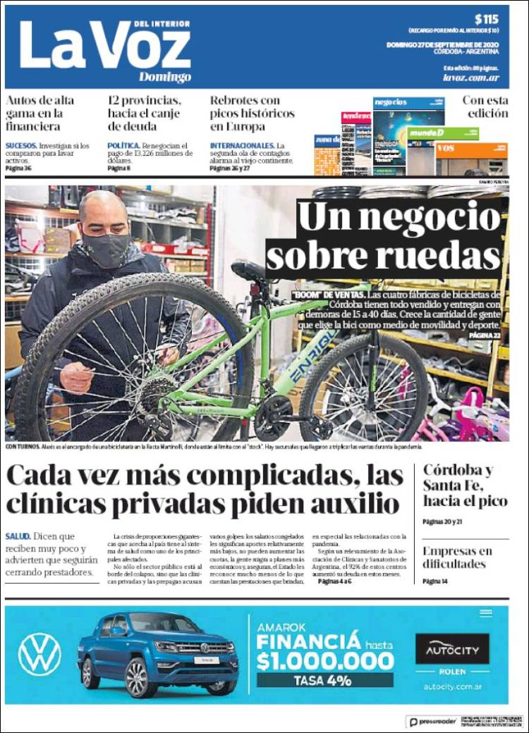 Las tapas del domingo 27: El boom de las bicicletas; Jaime, sin condena por Once