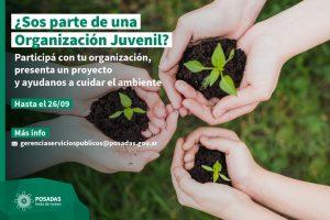 Convocan a jóvenes a presentar proyectos socioambientales