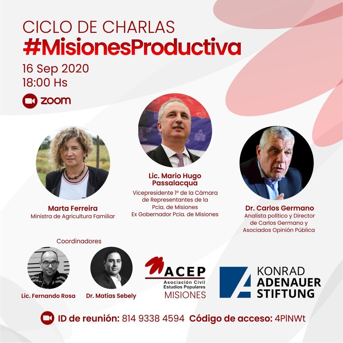 ACEP Misiones realizará una conferencia magistral con la participación del analista político Carlos Germano