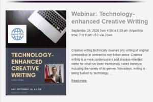 """Invitan a un seminario de """"Escritura creativa mejorada con la Tecnología"""""""