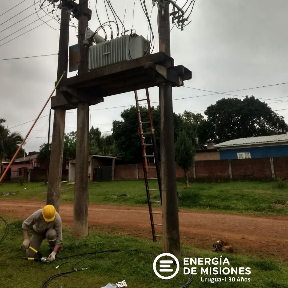 Energía de Misiones realizó trabajos en San Javier y Campo Grande