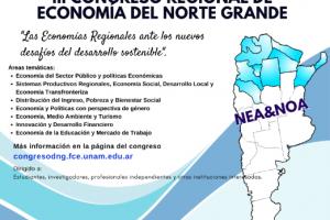 Mañana comienza el congreso regional de Economía del Norte Grande
