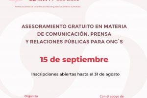 El 15 de septiembre se realizará la Maratón Solidaria de Relaciones Públicas