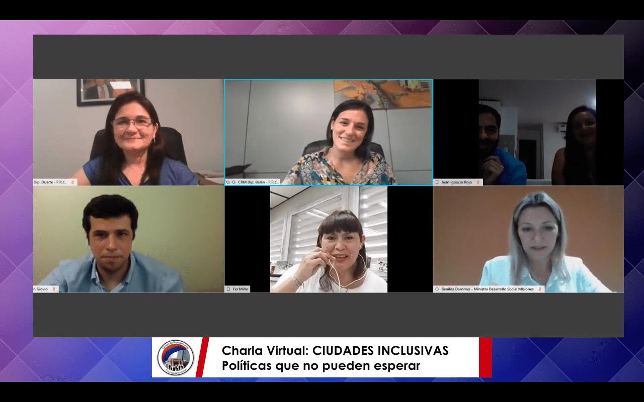 Realizaron una charla virtual sobre ciudades inclusivas
