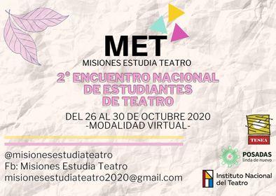 Del 26 al 30 se realizará el segundo encuentro de Estudiantes de Teatro