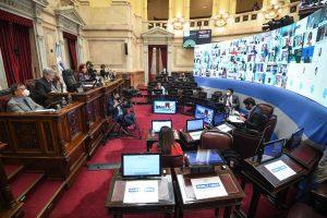 Sesión especial remota en el Honorable Senado de la Nación en la que se tratará el proyecto de ley de reducciónde la coparticipaciónde la ciudad de Buenos Aires y el régimen de promoción de la economía del conocimiento; el 2 de octubre de 2020, Buenos Aires, Argentina. (FOTO: Charly Diaz Azcue / Comunicacion Senado)