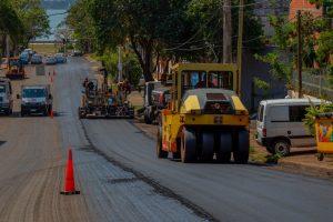 Posadas: culminó la repavimentación de la avenida Roca