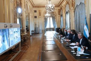 El Presidente analizó la situación sanitaria con los gobernadores, de cara a la nueva fase del aislamiento