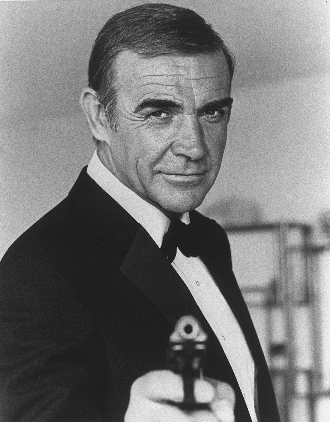 "Picture of Scottish actor Sean Connery taken in 1982 in Nice during the making of the film ""Never say, never again"" by US Irving Kerschner. Sean Connery will be for the seventh time secret service agent James Bond 007.  AFP PHOTO (Photo by AFP)"