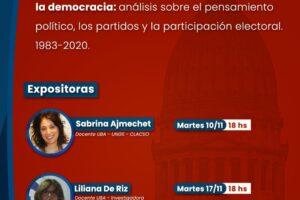 """Presentan la charla """"Procesos Políticos de la Argentina a partir de la Democracia"""""""
