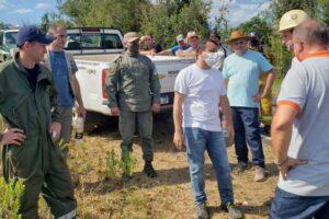 Herrera Ahuad supervisó la lucha contra el fuego en la reserva Yabotí