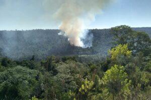 Guardaparques combatieron incendios en reserva Yaboti