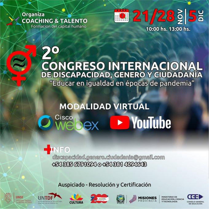 Se lleva adelante el segundo congreso internacional de Discapacidad, Género y Ciudadanía