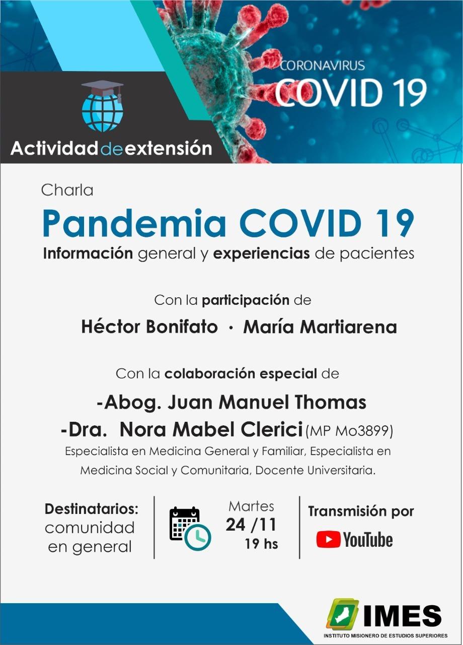 Invitan a una charla sobre COVID -19 desde la experiencia de pacientes misioneros recuperados