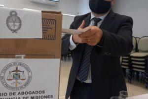 Fernando Orbe se impuso en las elecciones del Colegio de Abogados de Misiones