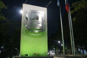 Sesquicentenario de la Fundación de Posadas: inauguraron el remodelado Escudo Municipal
