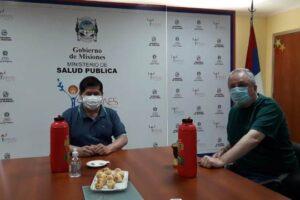 Reunión de trabajo entre Alarcón y Passalacqua