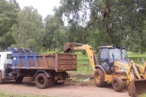 La Municipalidad de Cerro Azul refuerza trabajos en desagües