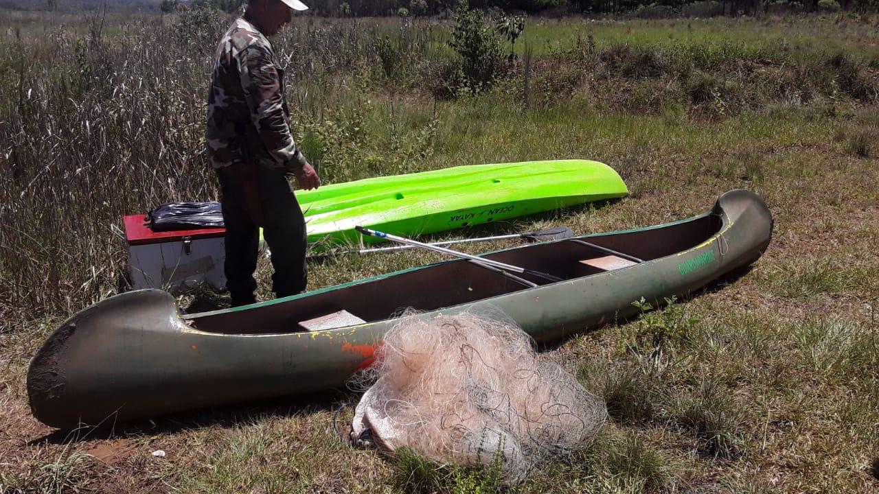 Guardaparques desarmaron redes de pesca en el arroyo Yabebiry