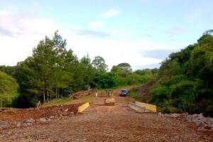 Vialidad rehabilitó el puente sobre el arroyo Fortaleza en San Pedro