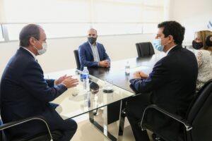 En Entre Ríos, Guzmán y De Pedro firmaron convenios y se reunieron con empresarios locales