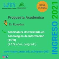 Nueva carrera: Tecnicatura Universitaria en Tecnologías de Información