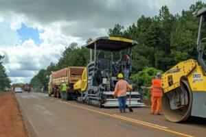 Vialidad trabaja en la repavimentación de la Ruta Provincial 19