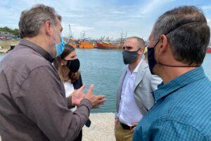 Guzmán y Raverta visitaron el Puerto de Mar del Plata y anunciaron obras de ampliación