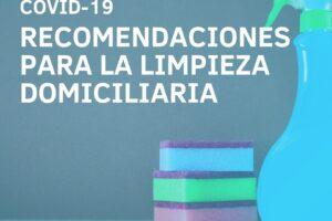 Recomendaciones para la limpieza domiciliaria para prevenir el contagio del Covid -19