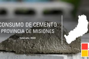 Consumo de cemento: Misiones cerró el 2020 con un aumento del 10,6%, y tuvo el mayor incremento en siete años